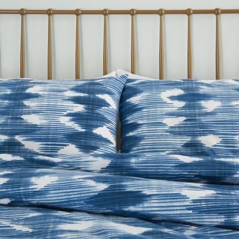 Nourison Dreamscape Navy Moroccan 3 PC Comforter Set