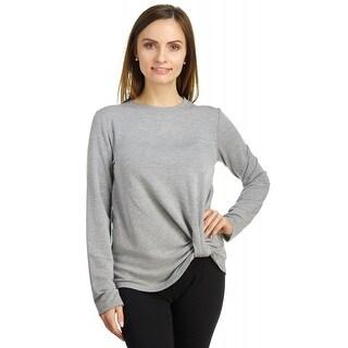 Cable & Gauge Women's Twist Front Baby Terry Sweatshirt