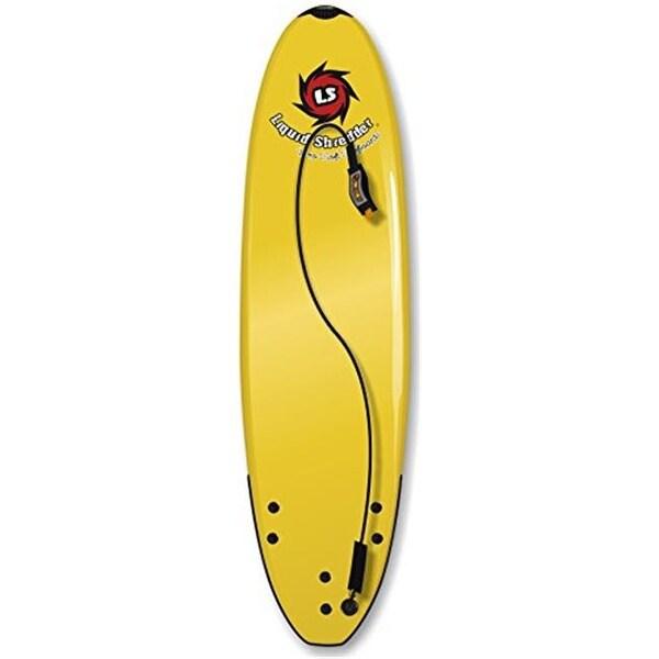 Liquid Shredder 6 ft. Element Soft Surfboard - Yellow, 4 in.