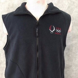 mens vest Team USA Olympics Beijing 2006 fleece size L black