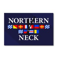 Northern Neck, VA - Nautical Flags - LP Artwork (Acrylic Wall Clock) - acrylic wall clock