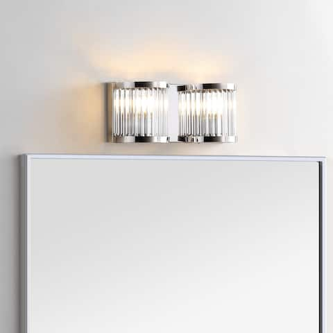 "Safavieh Lighting Karter 2-light LED Wall Sconce - 12""x3.3""x4.8"""