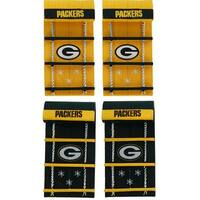 Green Bay Packers Team Toboggan Ornaments - Set of 4