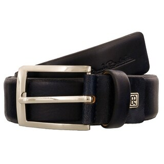 Renato Balestra W435 BLU Navy Blue Leather Mens Belt