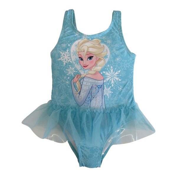 5a9b005f8d Shop Disney Little Toddler Girls Blue Frozen Elsa Tutu One Piece UPF50+  Swimsuit - Free Shipping On Orders Over $45 - Overstock - 18170084