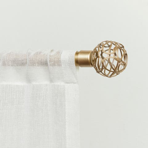 ATI Home Curtains Catherine Curtain Rod and Finial Set