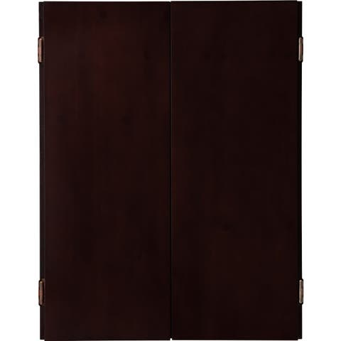 Viper Metropolitan Solid Pine Dartboard Cabinet with Mahogany finish / Model 40-0403