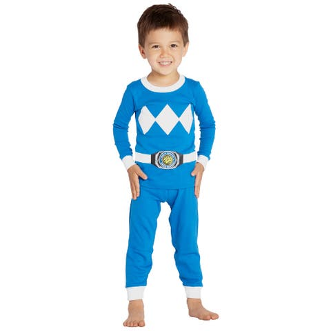Intimo Boys' Toddler' Mighty Morphin Blue Ranger Pajama Set