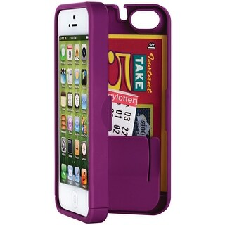 EYN Wallet Case for Apple iPhone 5/5S with built-in storage space for credit car