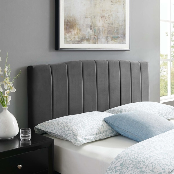 Camilla Channel Tufted King/California King Performance Velvet Headboard. Opens flyout.
