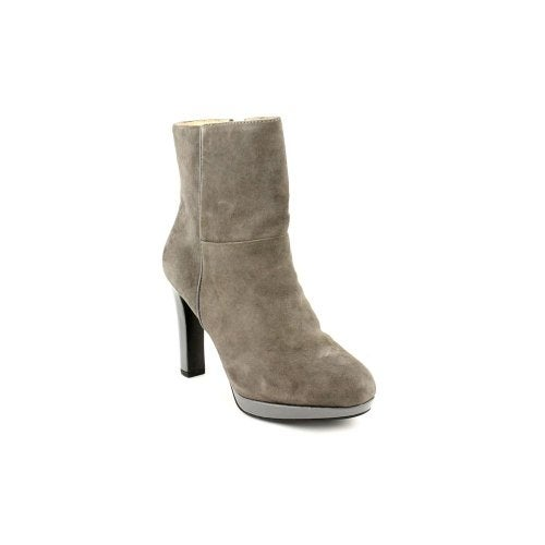 Ellen Tracy Womens Play Leather Closed Toe Ankle Fashion Boots - 9