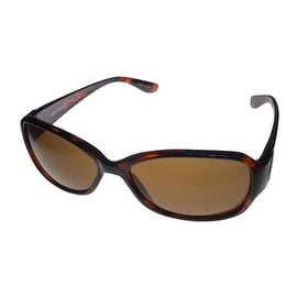Ellen Tracy Womens Sunglass Plastic Demi Rectangle , Brown Lens ET 503 2 - M