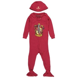 Intimo Baby Pajamas Set Footed Jammies with Beanie Hogwarts Houses - Gryffindor, Ravenclaw, Hufflepuff, Slytherin