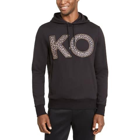 Michael Kors Mens Hoodie Knit Applique - Black