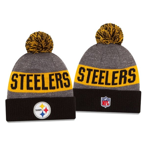 New Era NFL 2016 Sideline Knit Pom Beanie Hat - Pittsburgh Steelers