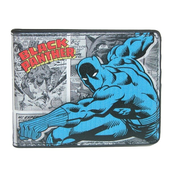 Marvel Men's Black Panther Comic Bifold Wallet - One size