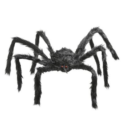 """35"""" Black Spider Halloween Decoration"""