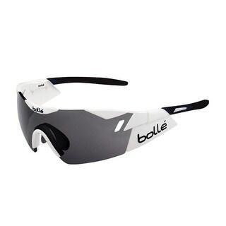 Bolle 6th Sense Shiny White/Black with Modulator Clear Gray oleo AF Lens Sunglasses