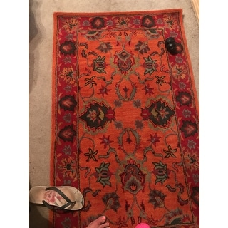 Gracewood Hollow Calvin Handmade Overdyed Traditional Wool Area Rug