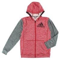 Adidas Mens Team Issue Full Zip Jacket Red - red/dark grey