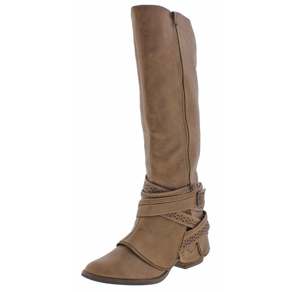 Not Rated Big Spender Women's Strappy Riding Boots
