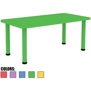 "2xhome - Green - Kids Table -Height Adjustable 18.25"" - 19.25"" Table"