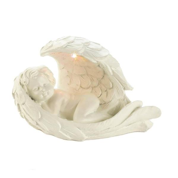 Home Peaceful Solar Cherub Figurine
