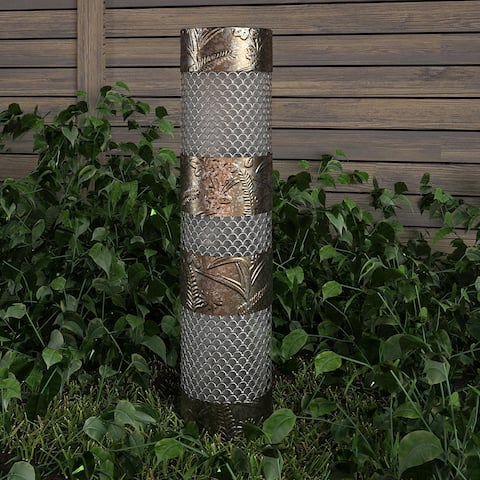 Cosco Outdoor Living Outdoor Garden Column with Multi-Colored Light and Remote