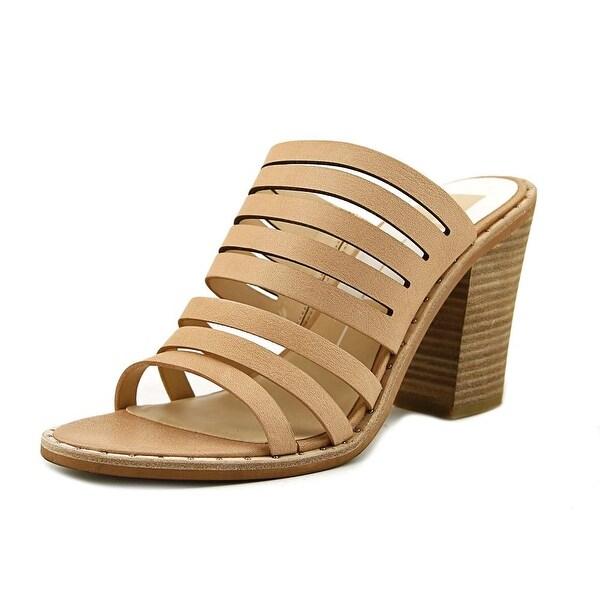 Dolce Vita Lorna Women Open Toe Leather Pink Slides Sandal