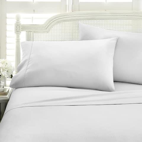Soft Essentials Embossed Chevron Design 4-piece Bed Sheet Set