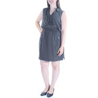 ALFANI $80 Womens 1028 Green Sleeveless Shirt Dress Wear To Work Dress 12 B+B