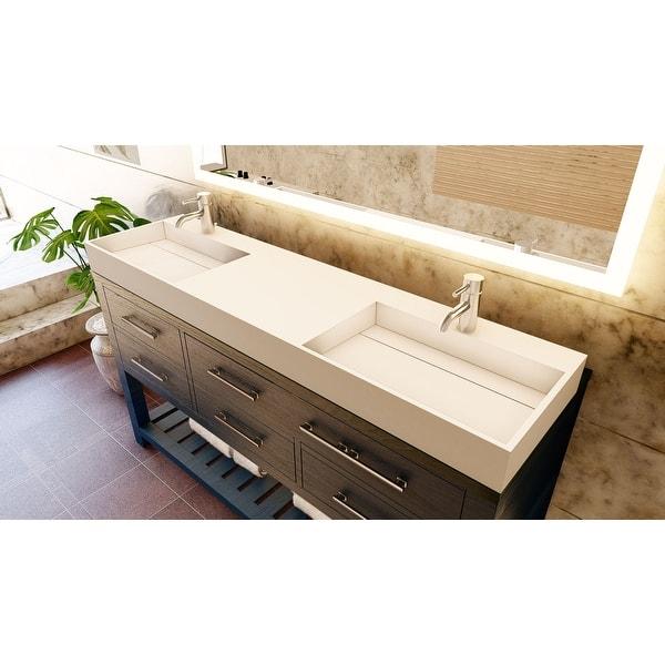 Juniper 72 Solid Surface Bathroom Vanity Top Overstock 32133941