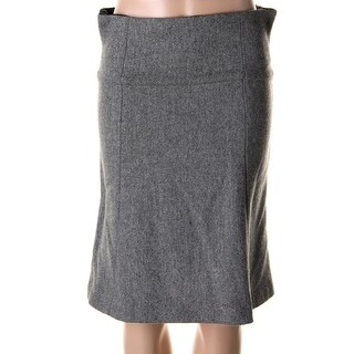Nanette Lepore Womens Heathered Knee-Length A-Line Skirt - 2