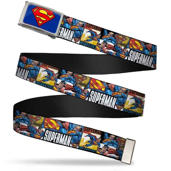 Superman Fcg Blue Chrome Superman Action Blocks White Webbing Web Belt