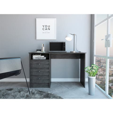 FMC Naples 3-drawer Modern Pedestal Computer Desk
