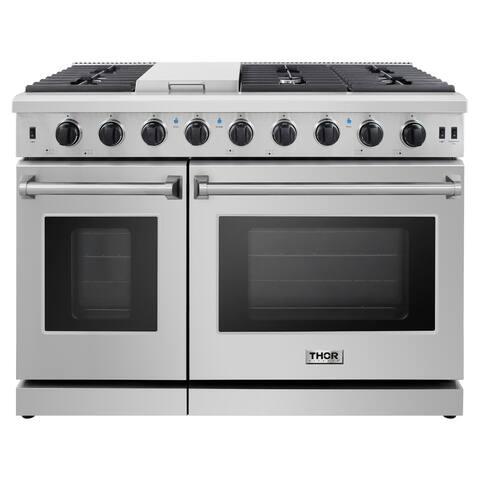 "Thor Kitchen - 48"" Professional Gas Range in Stainless Steel-LP"