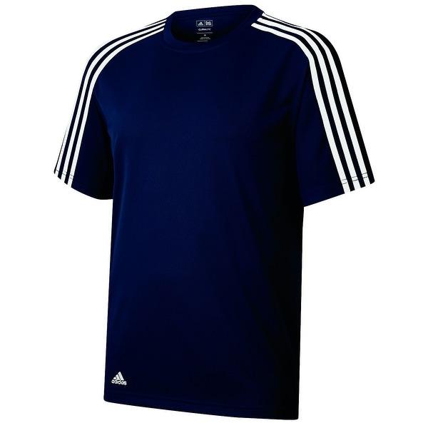 Adidas Golf Men's ClimaLite Pique 3-Stripe Performance Tee Shirt