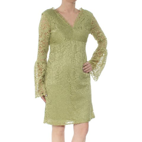 BETSEY JOHNSON Green Bell Sleeve Above The Knee Dress Size 0