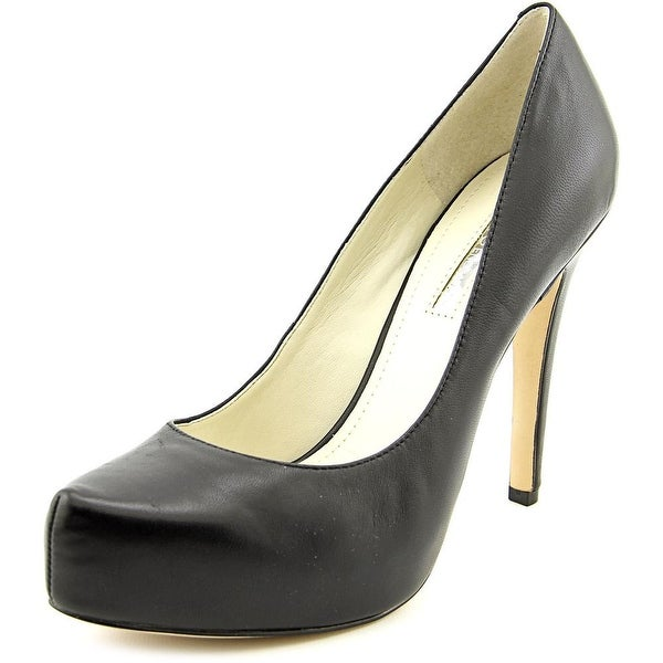 BCBGeneration Parade Women Open Toe Leather Black Platform Heel