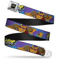 Classic Tmnt Logo Full Color Bebop Pose Shatter Purple Blues Yellow Gray Seatbelt Belt