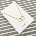 Honeycat Small Interlocking Circles Charm Necklace (Delicate Jewelry) - Thumbnail 10