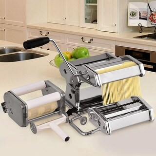 Costway 5 in 1 Stainless Steel Pasta Lasagna Spaghetti Tagliatelle Ravioli Maker Machine