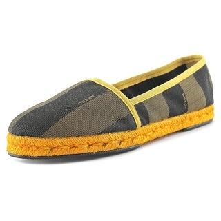 Fendi 8P4268 Women Round Toe Canvas Multi Color Espadrille