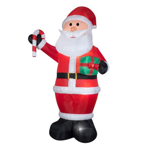 12' Red and White Inflatable Santa Outdoor Christmas Decor