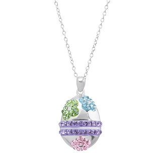 Crystaluxe Easter Egg Pendant With Swarovski Crystals - Purple