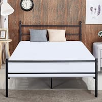 VECELO Queen/Full/Twin Bed Frames with Simple Headboard and Footboard