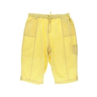 Karen Scott Womens Plus Capri Pants Cotton Comfort Waist - 2x