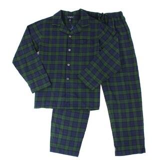 Club Room NEW Green Mens Size Small S Plaid Pajama Sets Sleepwear