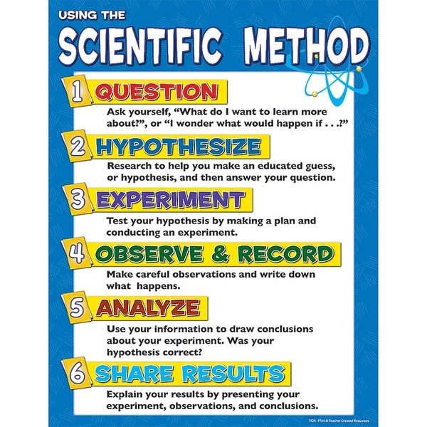 Scientific Method Chart Free Shipping On Orders Over 45 17103113