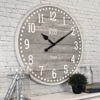 Link to FirsTime & Co.® Arlo Gray Farmhouse Wall Clock, American Crafted, Light Gray, Plastic, 20 x 2 x 20 in - 20 x 2 x 20 in Similar Items in Decorative Accessories